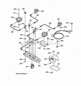 ge jgp631er3wg parts list and diagram ereplacementpartscom With manifold switch assembly diagram parts list for model b09j50020