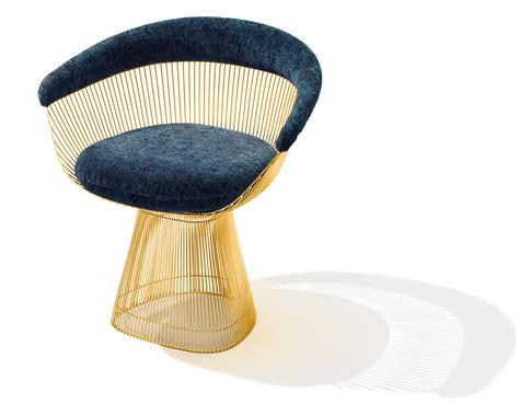 decorative stools and benches platner gold plated arm chair hivemodern com