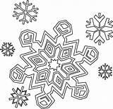 Coloring Snowflakes Winter Season sketch template