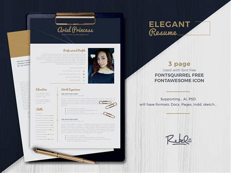 elegant resume cv template  pages  behance