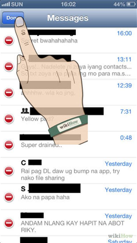 how to clear messages on iphone 5 ways to delete text messages from an iphone wikihow