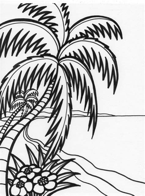 beach coloring pages beach scenes activities