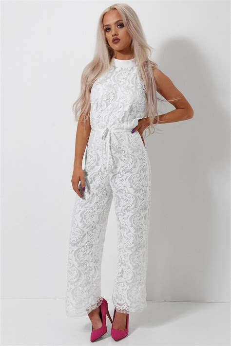 lace jumpsuit white zara white lace backless jumpsuit the fashion bible from
