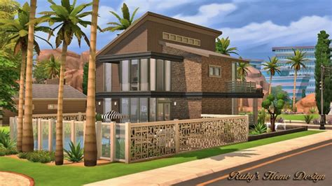 Ruby's Home Design : Modern Industrial Home At Ruby's Home Design » Sims 4 Updates