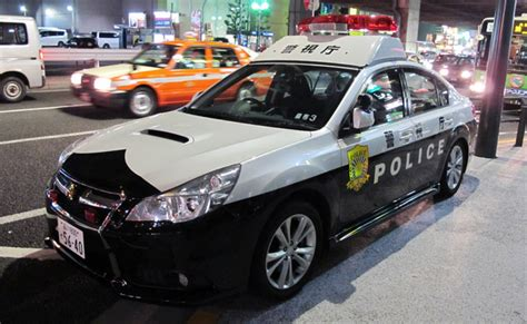 We Saw This Subaru Legacy Police Car In Roppongi District