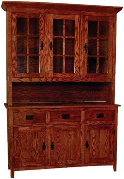 mission style  door oak hutch  dutchcrafters