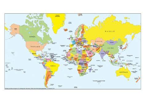 Carte Du Monde Avec Capitales Pdf by Carte Mondiale 224 Imprimer Voyages Cartes