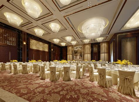luxury banquet hall  model cgtrader