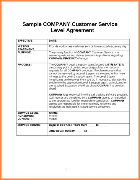 software service level agreement template purchase