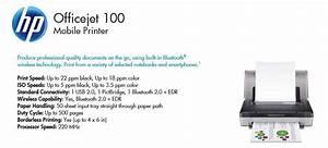 Hp Officejet 100 Cn551a Mobile Inkjet Printer