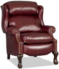 bradington chippendale reclining wing chair with