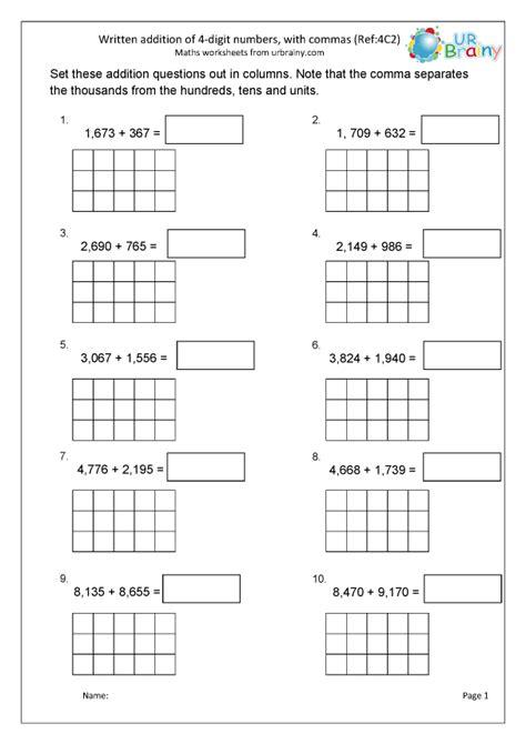 addition    digits  commas  arithmetic