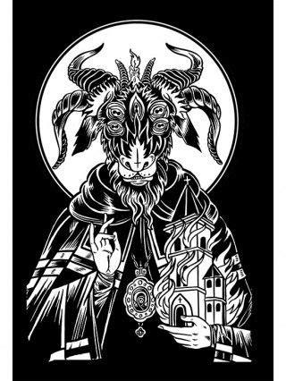 """Saint Goat"" Print by Mindzai Creative (Black)   by nie zapomniec in 2019   Satanic art, Art"