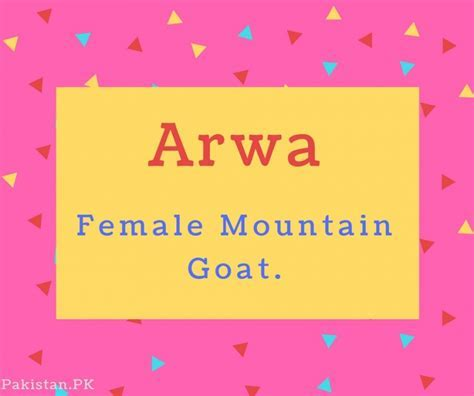 What is Arwa Name Meaning In Urdu   Arwa Meaning is ???