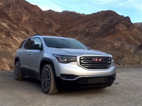 gmc acadia slt  awd driving notes automotive fleet