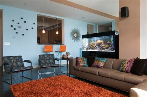 contemporary living room designs  fish tanks home