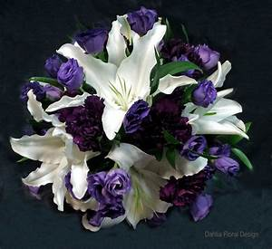 white lily with purple flowers calgary wedding flower ...