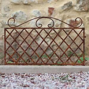 Bordure De Jardin Metal : bordure m tal croisillons en fer brut ~ Dailycaller-alerts.com Idées de Décoration