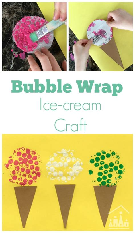 Brilliant Bubble Wrap Ice Cream Craft  Crafty Kids At Home