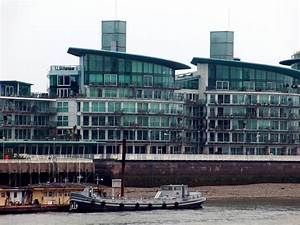 Apartments along River Thames Northbank