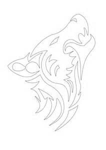 Wolf Tattoo Stencils