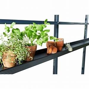 Etagere Pour Serre : etag re en aluminium laqu noir 15x213cm juliana ~ Premium-room.com Idées de Décoration
