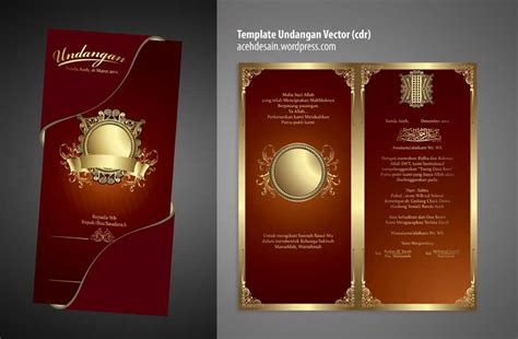 template undangan nikah  cdr acehdesain