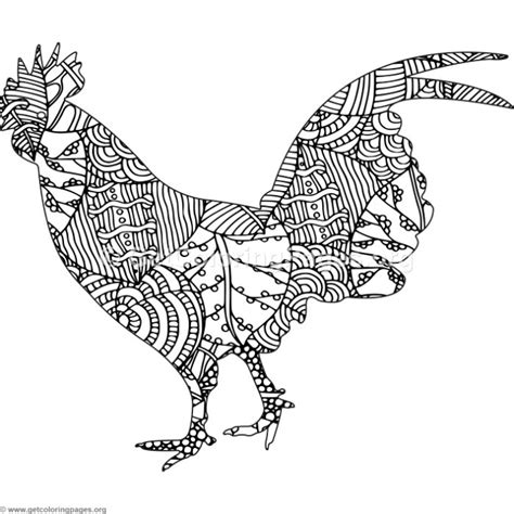 zentangle chicken coloring pages getcoloringpagesorg