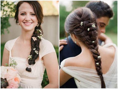 dieci acconciature   fiori  la sposa style