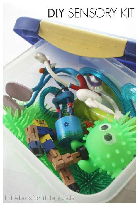 sensory kit calm  ideas  anxious  fidgety kids