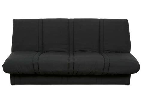 conforama canapé clic clac banquette clic clac en tissu coloris noir vente