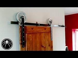 Comment Monter Une Porte Coulissante : cr ation d 39 une porte coulissante effet porte de grange youtube ~ Melissatoandfro.com Idées de Décoration