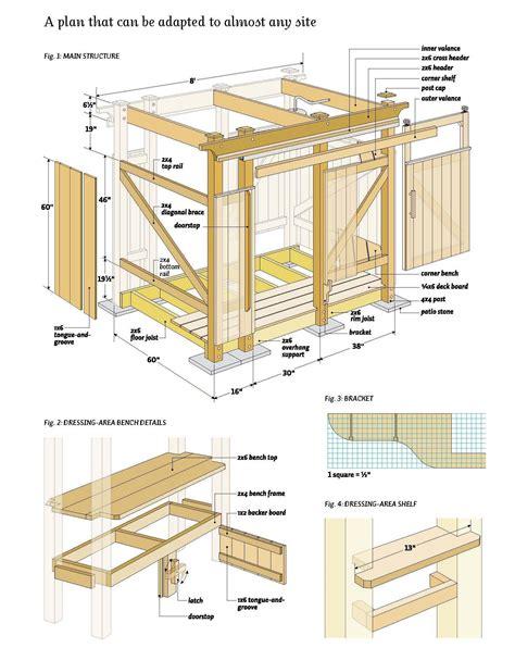 outdoor shower wood plans diy pinterest woods