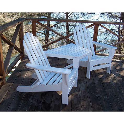 polywood adirondack tete a tete chairs weatherproof