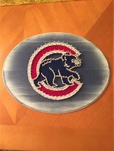 Chicago Cubs String Art by GoldenStringArt on Etsy