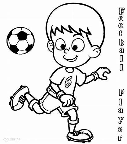 Coloring Football Soccer Pages Players Player Sports