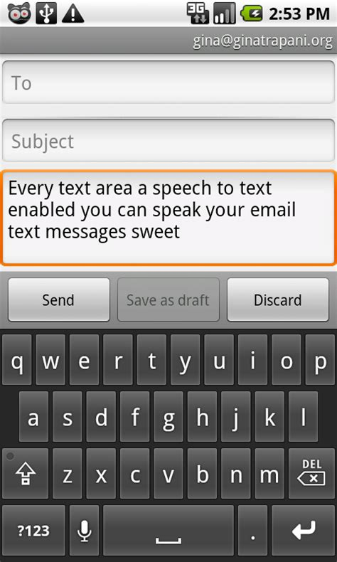 voice texting for android android 2 1 s speech to text feature reviewed it s quot ok