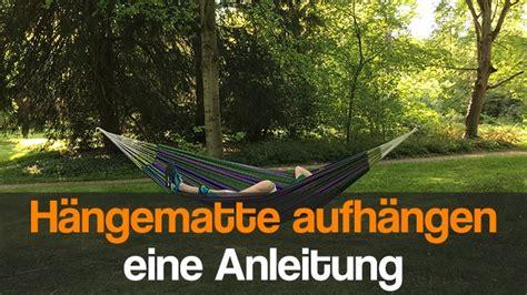 Hängematte Aufhängen Knoten by H 228 Ngematte Aufh 228 Ngen Eine Anleitung Zur Befestigung