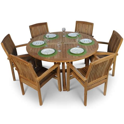 Garden Table And Chairs by Teak Garden Table And 6 Chairs Homegenies