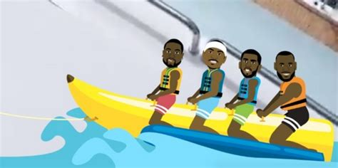 Banana Boat Lebron by Lebron Dwyane Wade And Chris Paul Resume Their