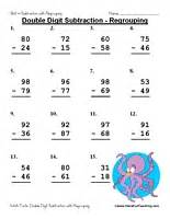 subtracting two digit numbers without regrouping digit subtraction worksheet regrouping teaching