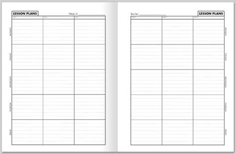 lesson plan book template printable blank weekly lesson plan template new calendar template site