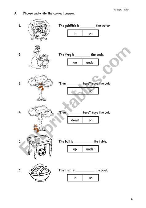preposition esl worksheet  azeiyta