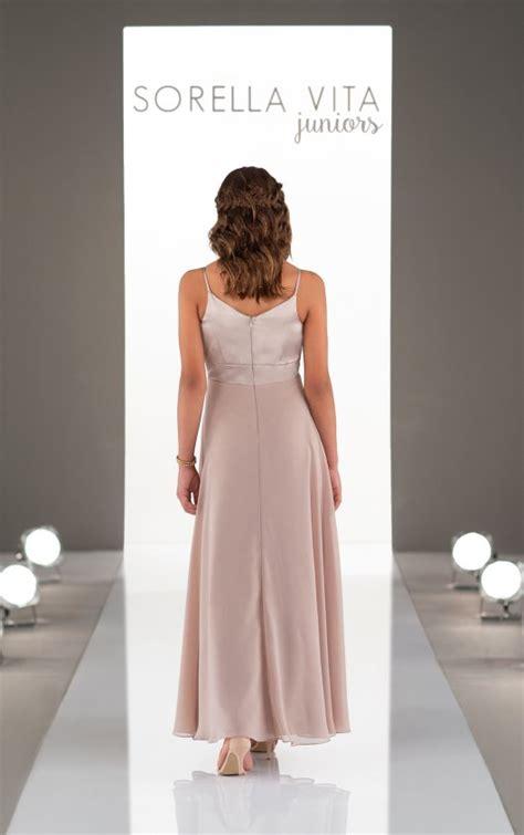 mixed material junior bridesmaid dress sorella vita