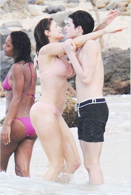 Mother (Stephanie Seymour) Caught on Camera Kissing her Son (Peter Brant II) on the Lips at the ...