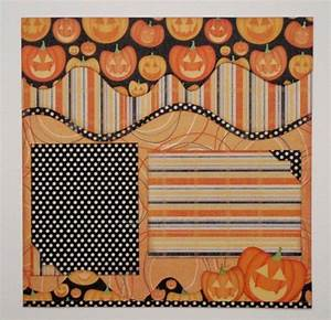 Pumpkin, Carving, 12x12, Premade, Two, Page, Layout, By, Designs2cherish