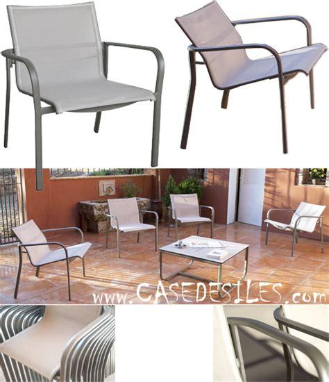 fauteuil de jardin alu inclinable empilable 990 pas cher