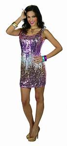 80er Jahre Kostüm Damen : disco glamour kleid show hippie pailletten kost m 80er jahre damen gr 40 42 ebay ~ Frokenaadalensverden.com Haus und Dekorationen