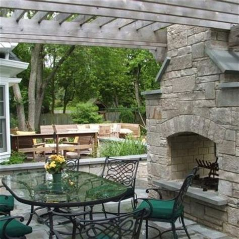 2 Sided Outdoor Fireplace - traditional fireplaces and photos on