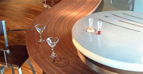 concrete  wood bar countertop  eric boyd concrete